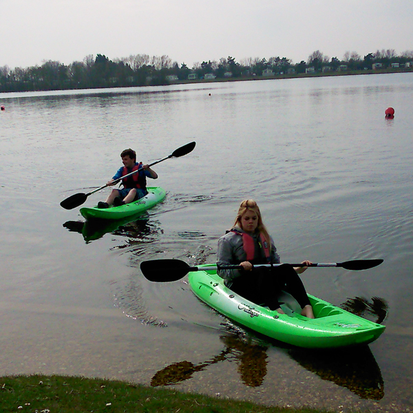Tootega kayaks on one of Tallington Lake's lakes!