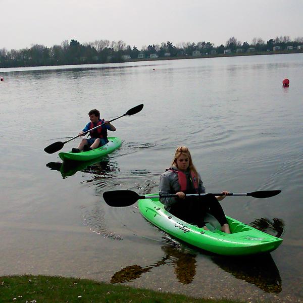 Tootega kayaks on one of Tallington Lake's lakes!