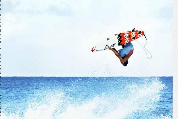 rip curl surfer wearing boardshorts