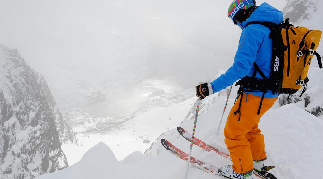 skier wearing snow pants