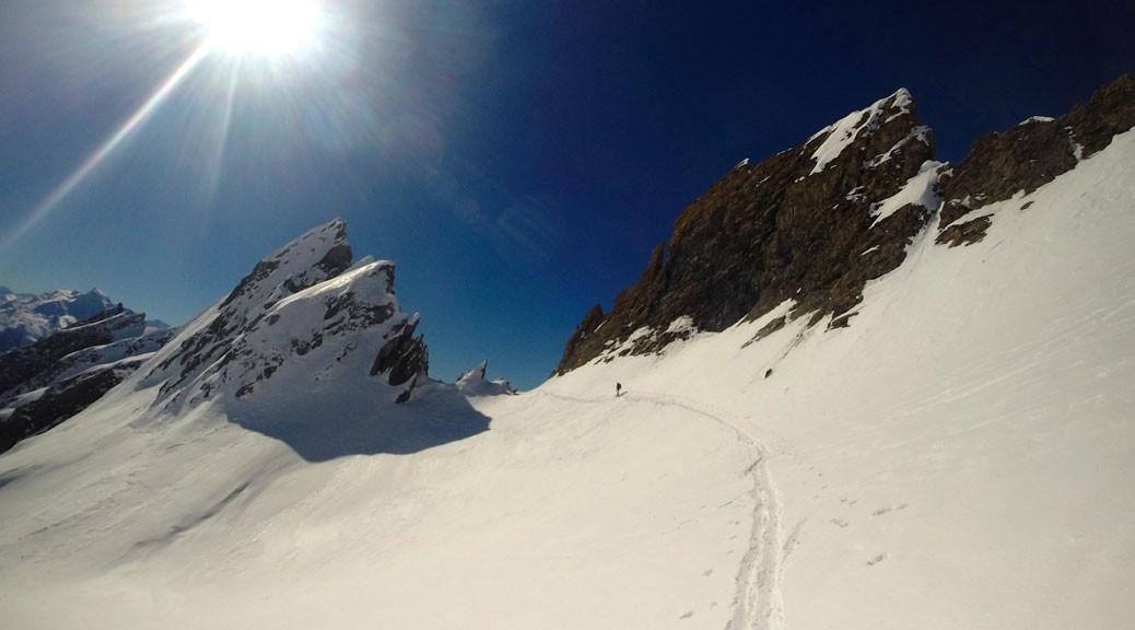 ski touring mountains