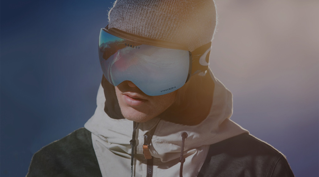 man wearing oakley snow goggles