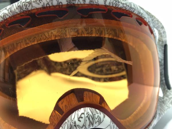 scratched oakley lens