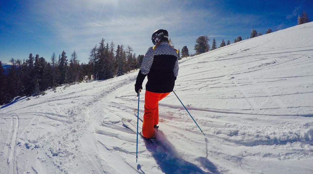 skier open slope