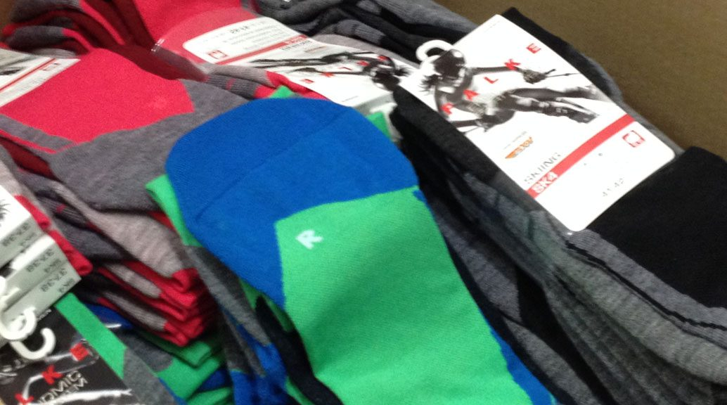 box of falke socks