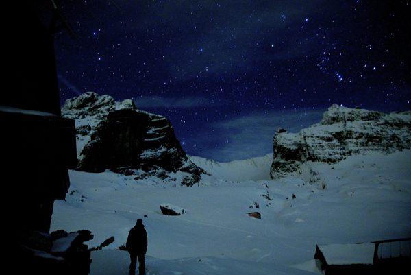 stars at night in the mountains