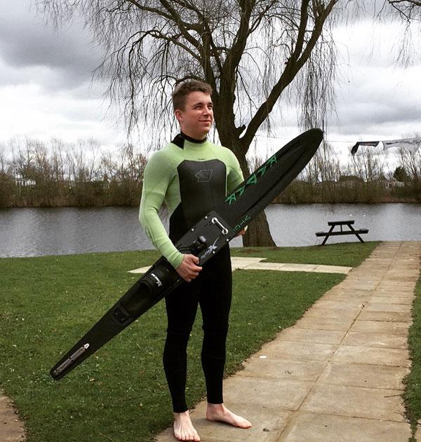 water skier wearing a wetsuit