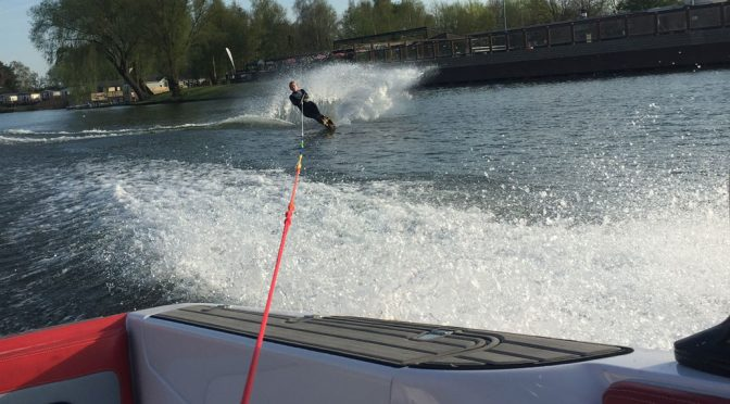 water skiing in a wetsuit