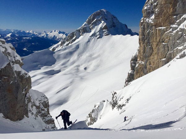 ski touring kick turns