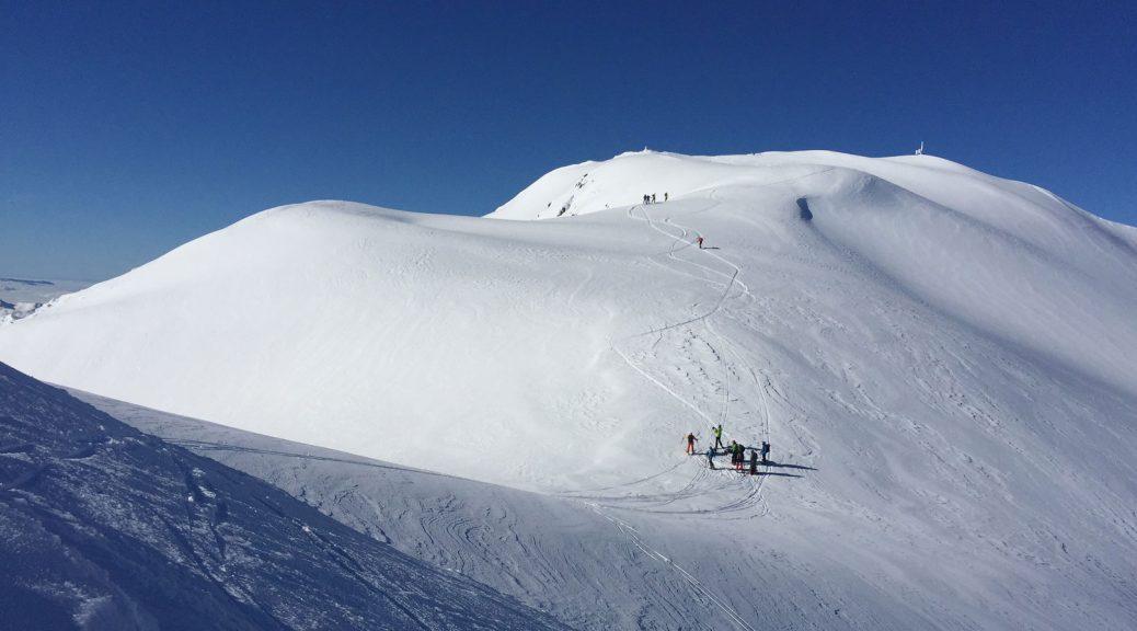 mountain ski touring