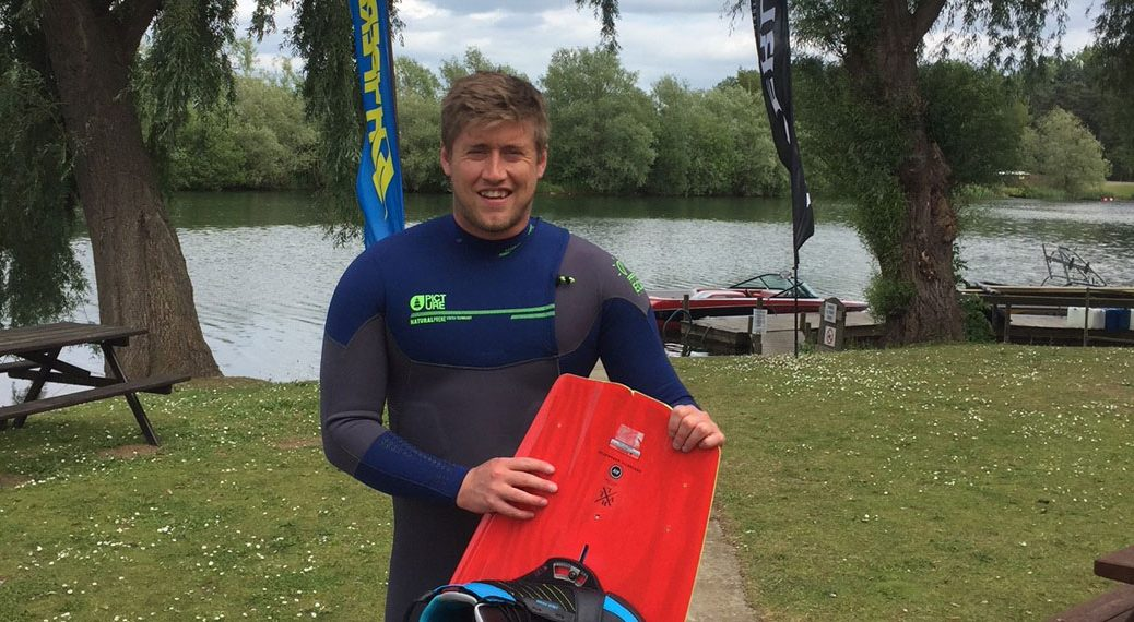 picture civic wetsuit worn by wakeboarder