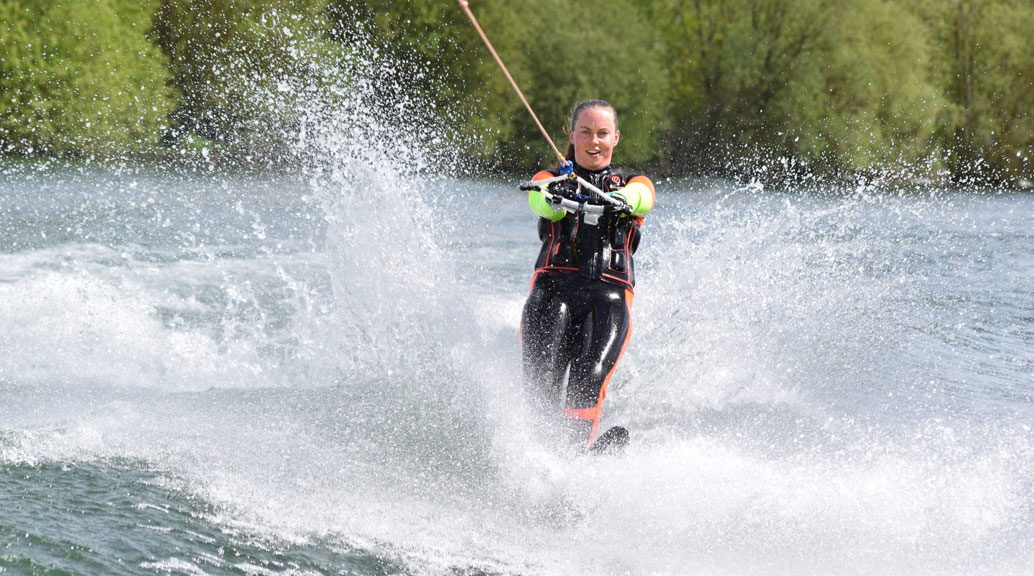 female water skier