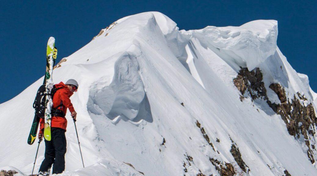 skier on mountain ridge
