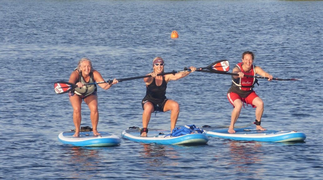 three ladies SUPing
