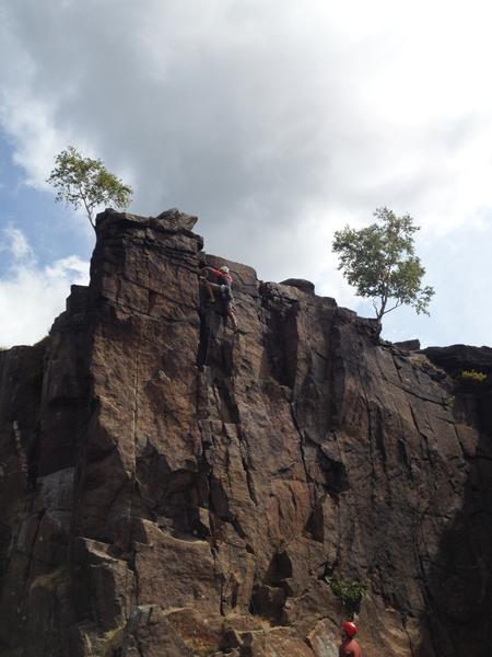 trad climbing derbyshire