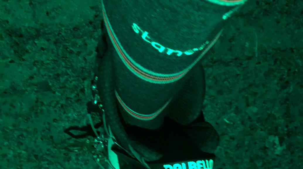 stance socks in ski boot