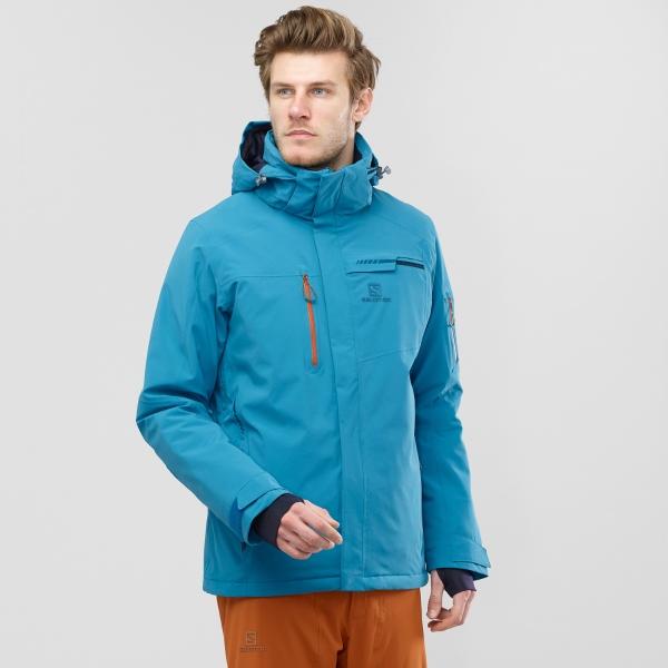 Salomon Brilliant Fjord Blue Snow Jacket 2020: M