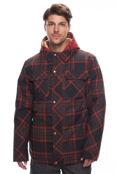 68b168317 686 Woodland Rusty Red Plaid Insulated Jacket 2019