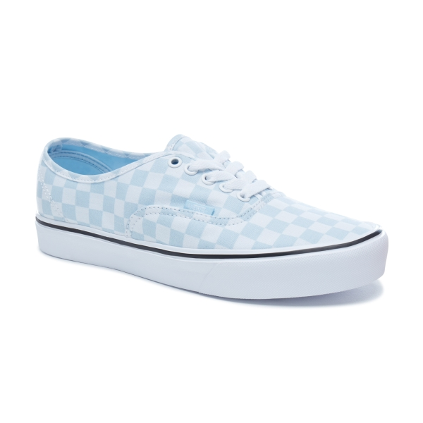 9393d031a58 Vans UA Authentic Lite Baby Blue White Check Shoes - £39.89 - in ...