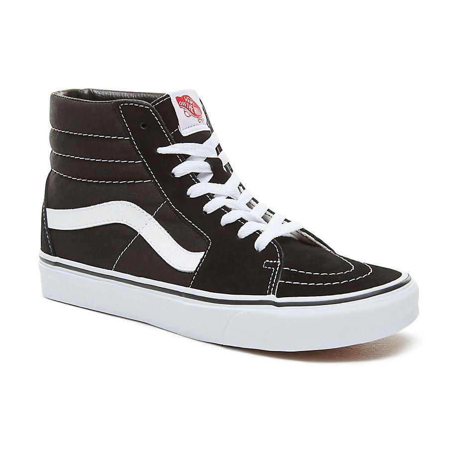 Vans UA Sk8-Hi Black White Shoes: UK 4