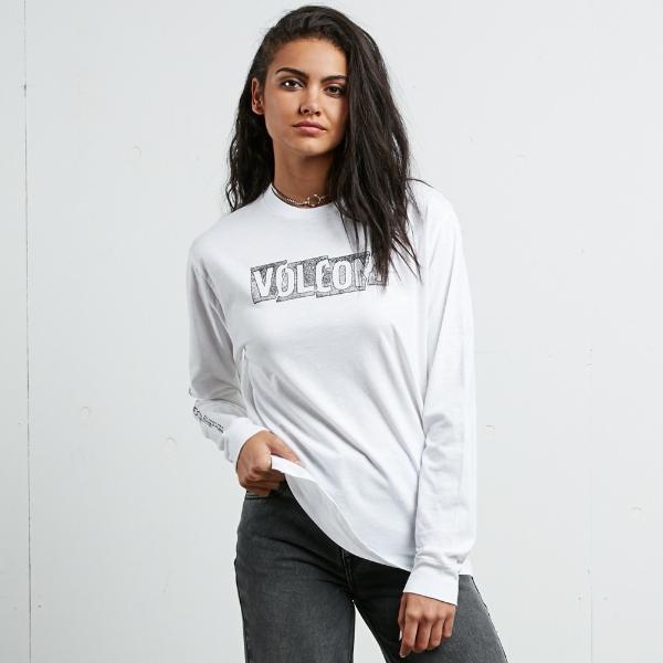 669549f00a5 Volcom Womens What A Trip Long Sleeve White T-Shirt - £24.49 - in ...