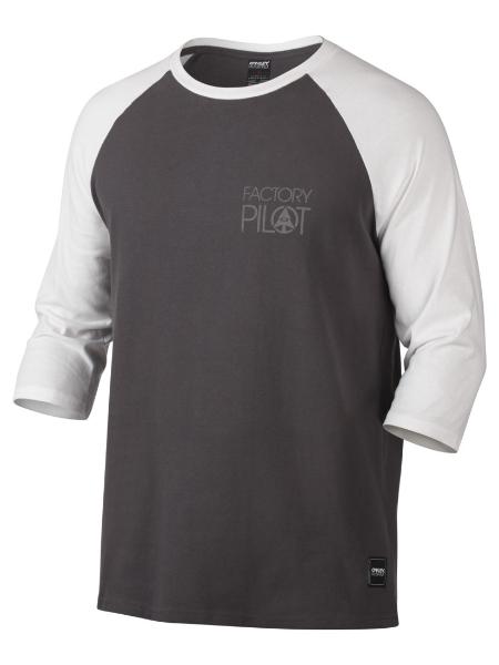 63f4d7f83446 Oakley Factory Pilot Raglan Grey White Long Sleeve T-Shirt - £14.99 ...