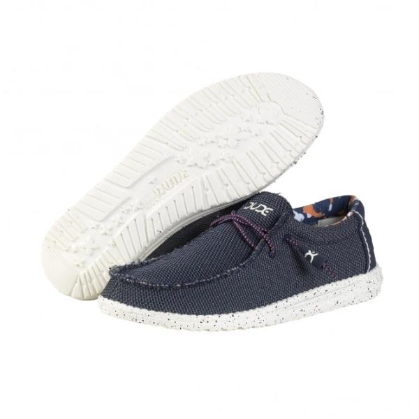 Dude Wally Sox Blue Shoes: UK 10 - £34