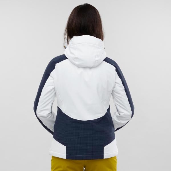Salomon Womens Brilliant White Night Sky Snow Jacket 2020: M